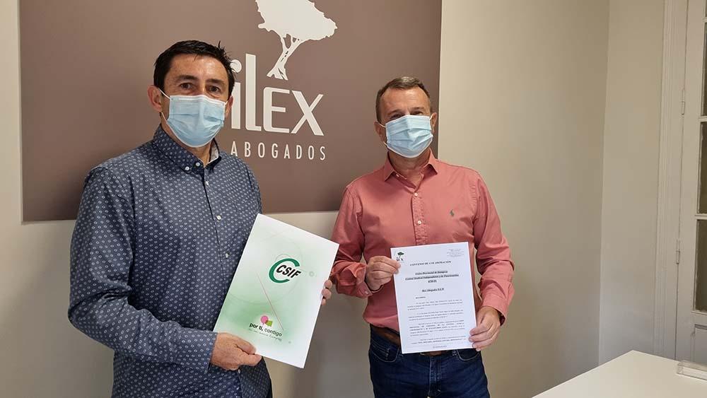 Acuerdo entre CSFIF e Ilex Abogados para Asesoramiento Jurídico